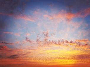Zonsondergang vanaf mijn balkon in Amstelveen 4 juni 2017